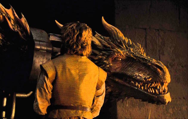 Tyrion Lannistre with Daenerys' dragons. Will he be revealed as a secret Targaryen in Game of Thrones season 7?
