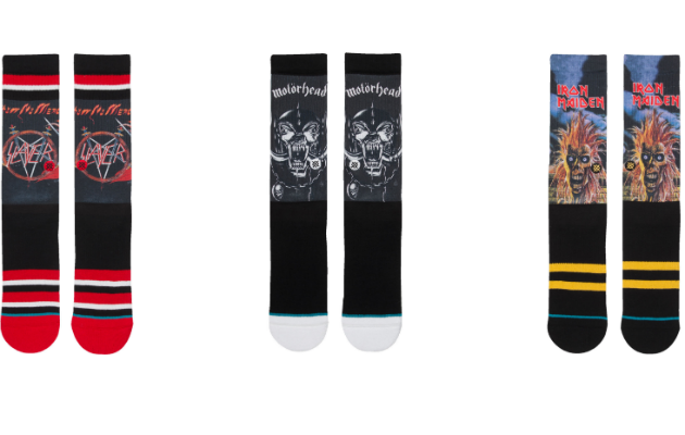 Slayer, Motorhead and Iron Maiden socks