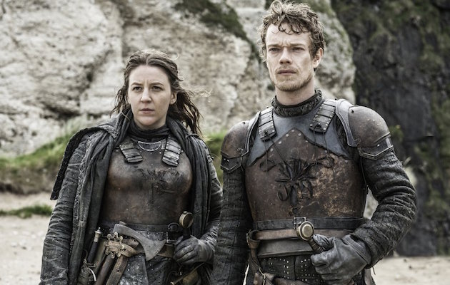 Gemma Whelan and Alfie Allen as brother and sister Yara and Theon Greyjoy in Game of Thrones.