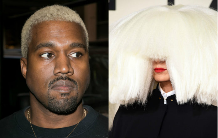 Sia Kanye West fur free yeezy