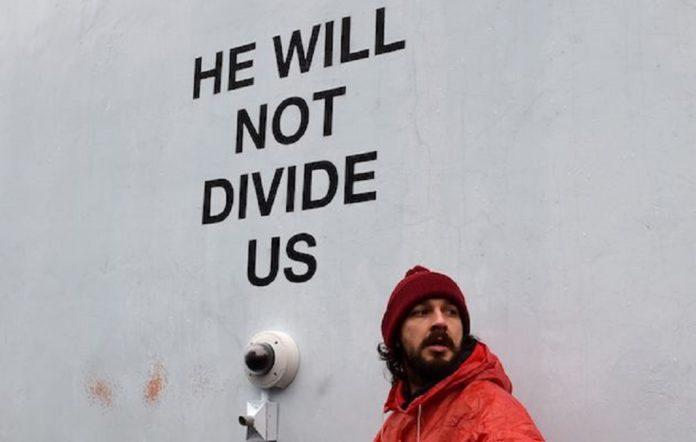 Shia LaBeouf at his anti-Trump project