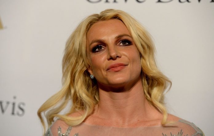 Britney Spears at the 2017 pre-Grammy gala