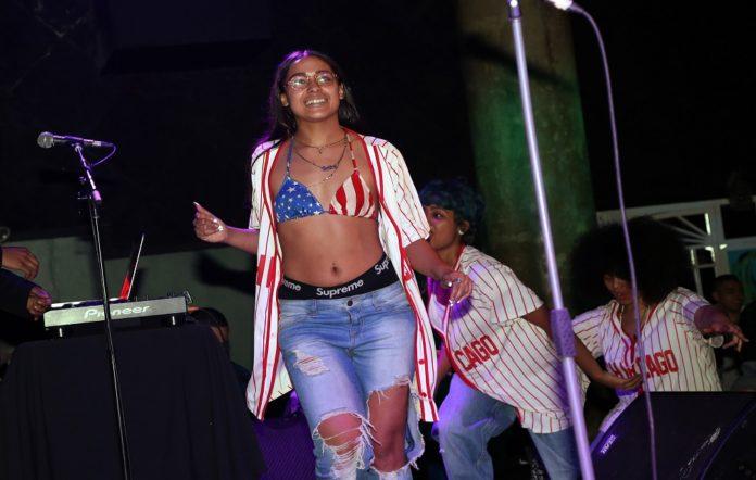 Princess Nokia performing