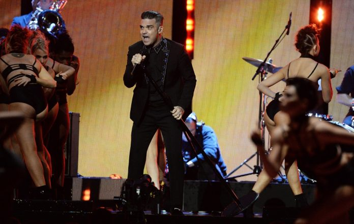 Robbie Williams at the BRIT Awards