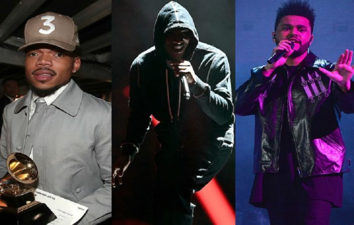 Chance The Rapper, Skepta, The Weeknd