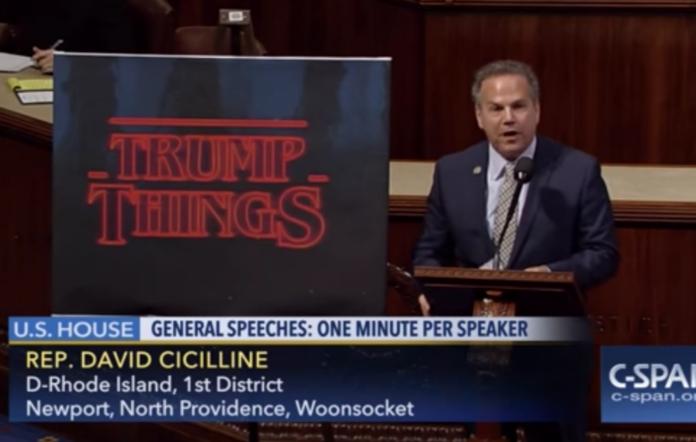 Congressman compares Trump's America to Stranger Things