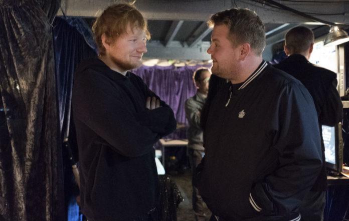 Ed Sheeran and James Corden spotted shooting 'Carpool Karaoke'