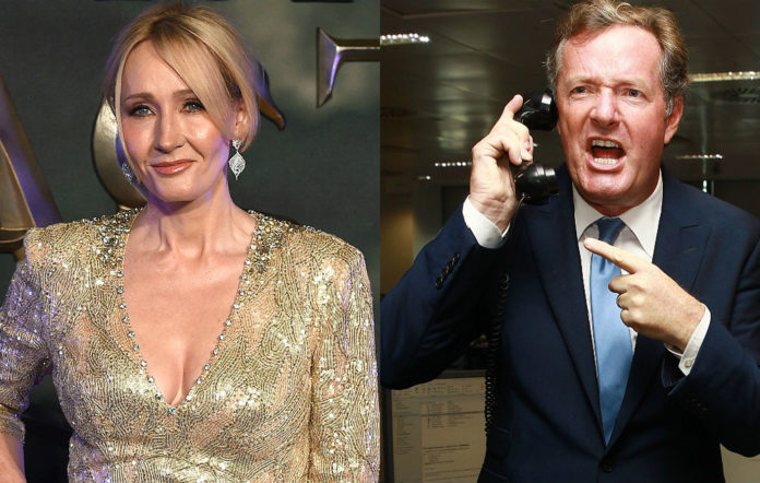 JK Rowling and Piers Morgan