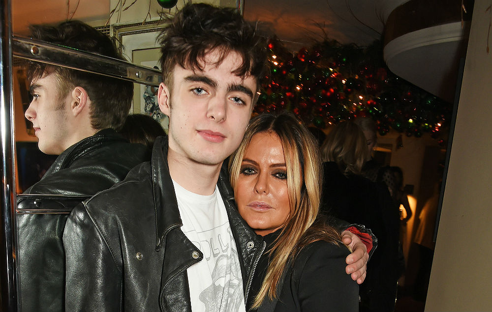 Lennon Gallagher and mother Patsy Kensit
