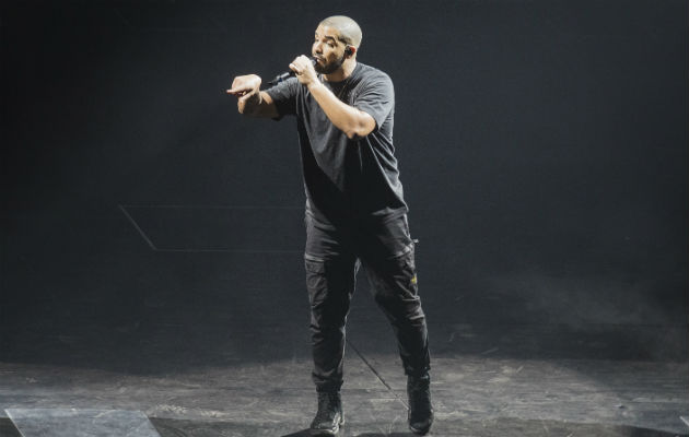 Drake performing in Leeds