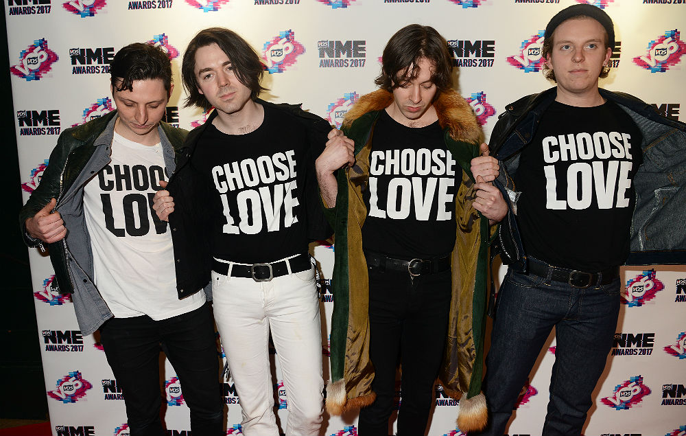 Peace at the VO5 NME Awards 2017