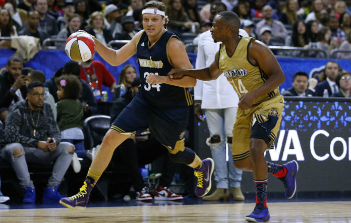 Win Butler shows off his dribbling skills