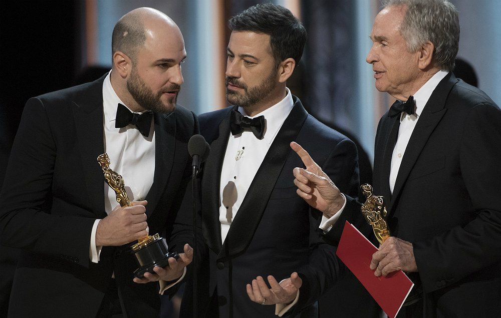 Jimmy Kimmel was host at the Oscars 2017 during the 'Best Picture' mishap