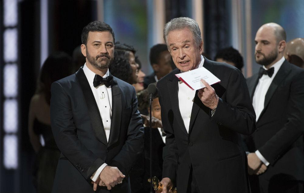 Jimmy Kimmel and Warren Beaty