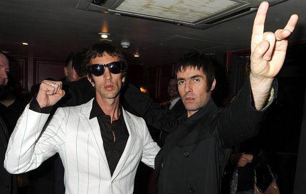 Richard Ashcroft and Liam Gallagher