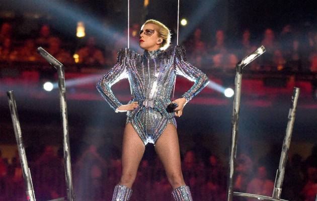 Lady Gaga performs at the Super Bowl