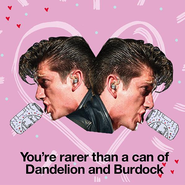 Alex Turner Valentine's Day cards