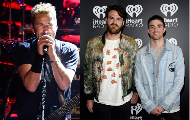 Nickelback's Chad Kroeger and The Chainsmokers