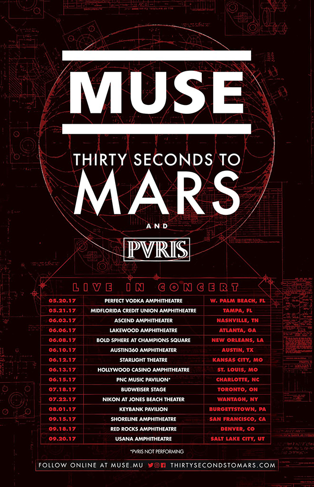 PVRIS are touring with Muse and Thirty Seconds To Mars