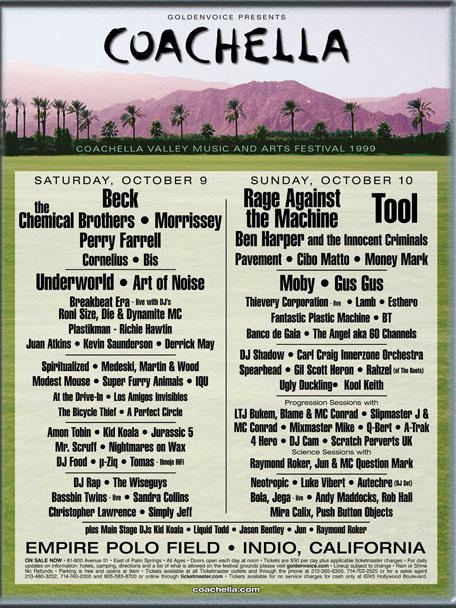 Coachella 1999 lineup