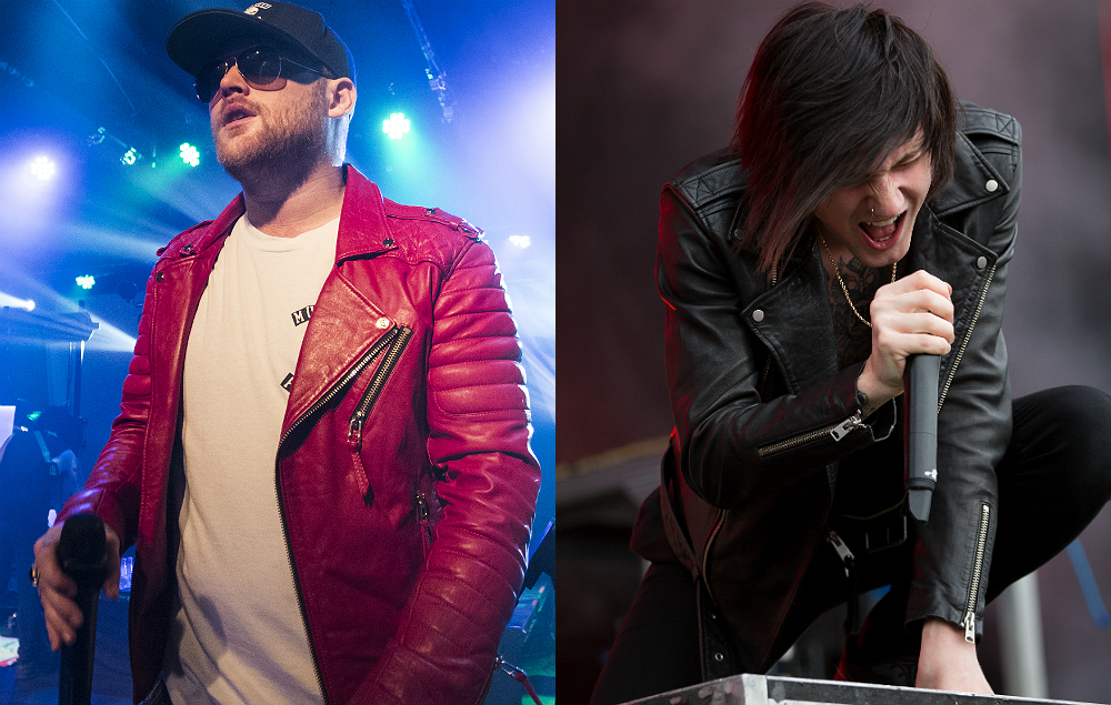 Asking Alexandria's Danny Worsnop and former frontman Denis Stoff