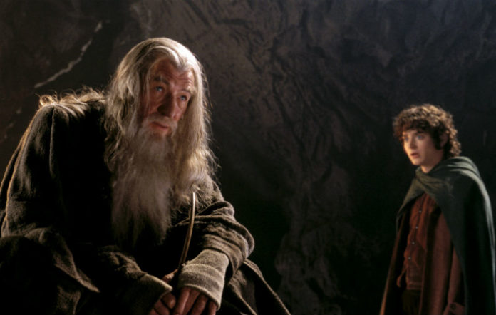 Sir Ian McKellen and Elijah Wood in 'The Lord of the Rings'