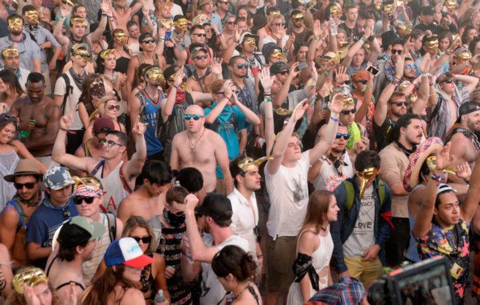 The Coachella crowd