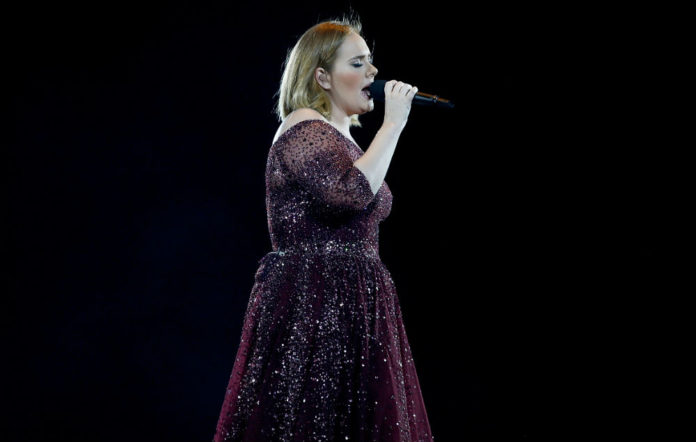 Adele performing in Auckland, New Zealand