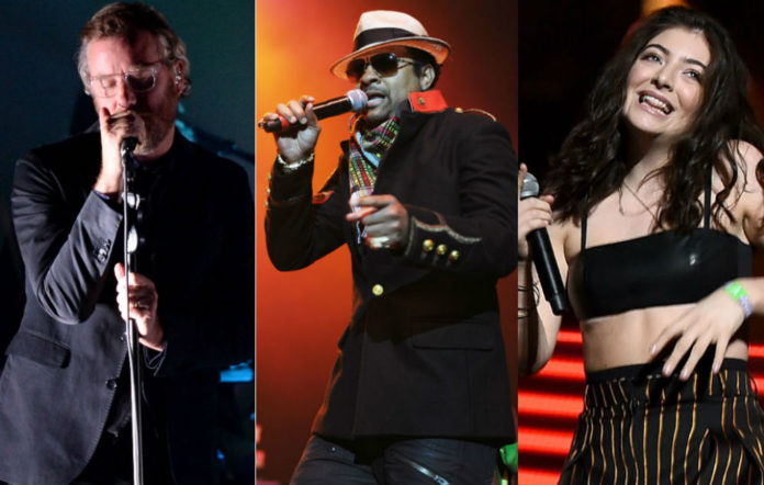 The National, Shaggy, Lorde