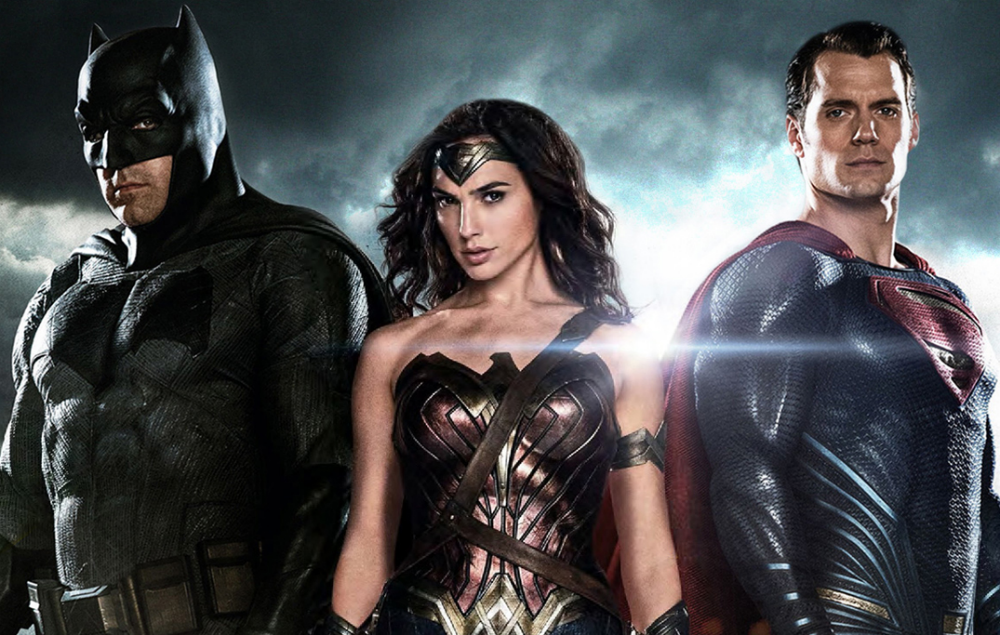 Ben Affleck, Gal Gadot and Henry Cavill in Justice League