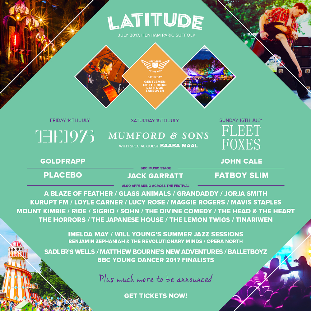 The line-up for Latitude 2017