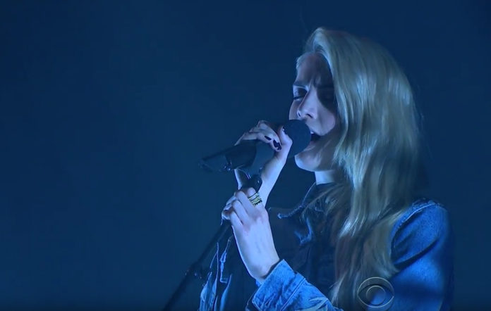 London Grammar's Hannah Reid performs on The Late Late Show With James Corden