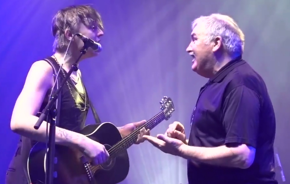 Pete Doherty and his dad perform live
