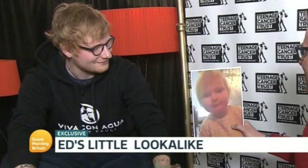Ed Sheeran and his 'baby lookalike'