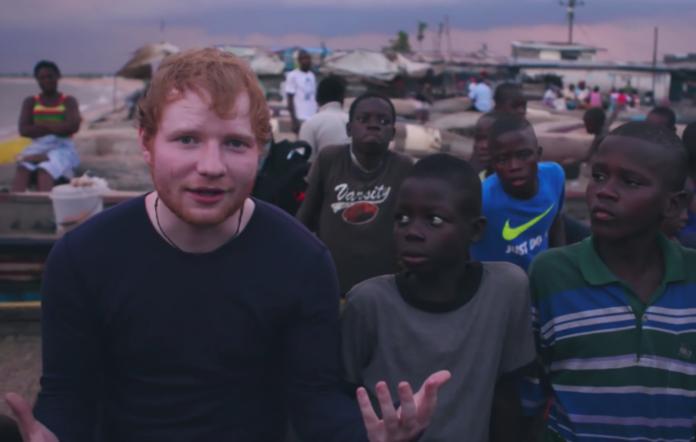 Ed Sheeran and JD in Liberia