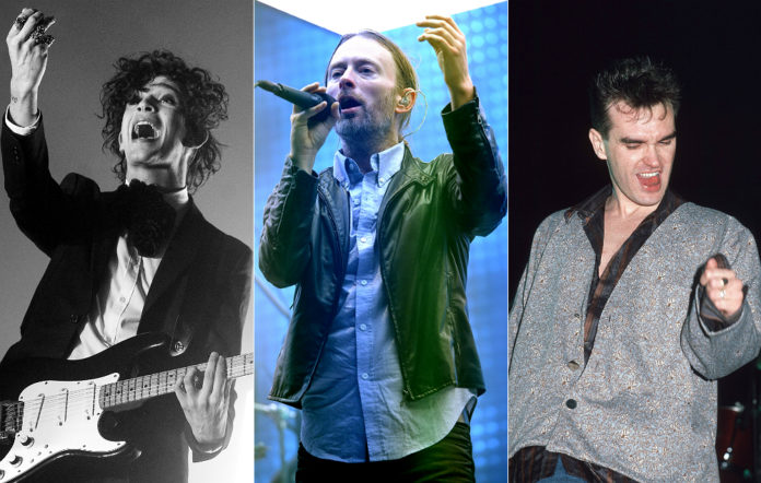 The 1975's Matty Healy, Radiohead's Thom Yorke and Morrissey