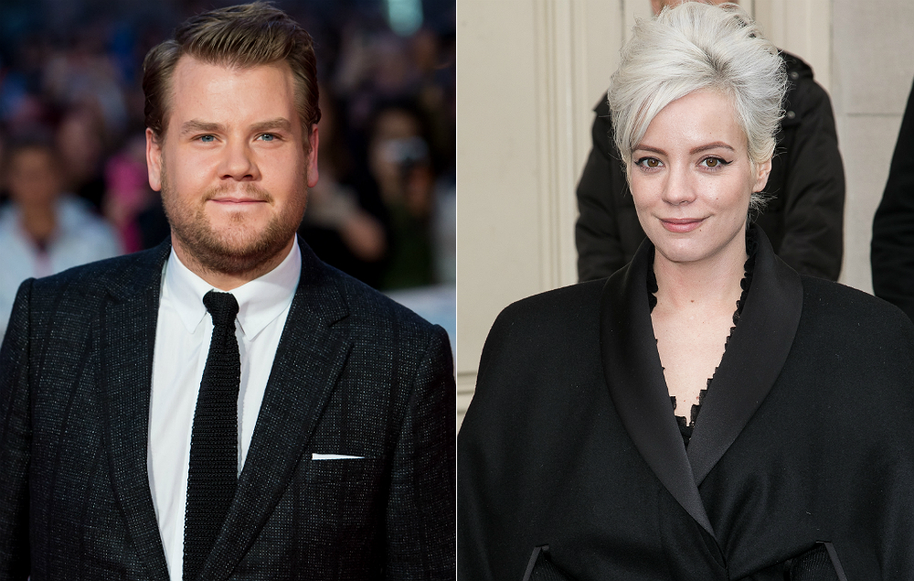 James Corden and Lily Allen