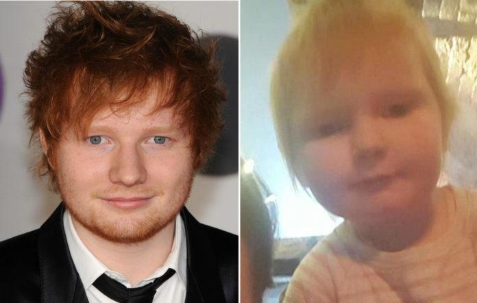 Ed Sheeran and his baby lookalike