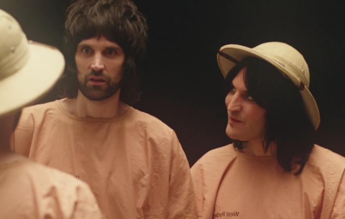 Serge and Noel Fielding in the new Kasabian video