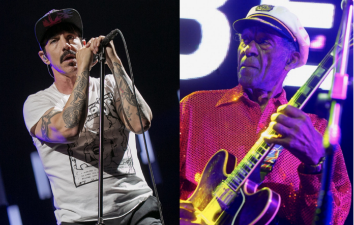 Anthony Kiedis and Chuck Berry