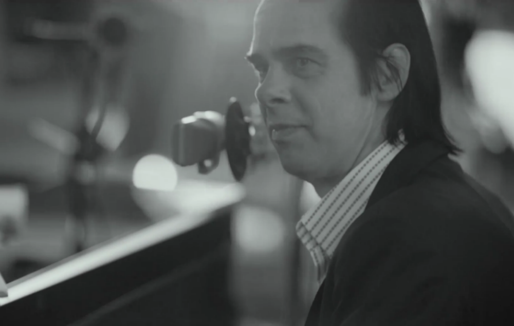 Nick Cave in the video for 'Steve McQueen'