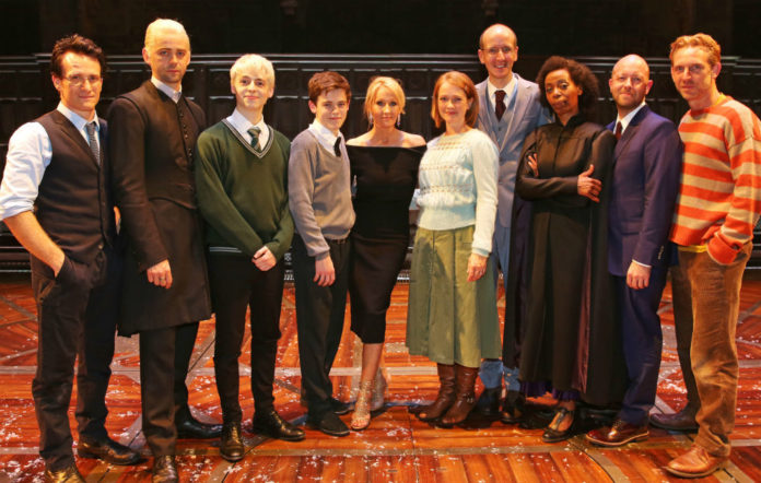 JK Rowling and the Harry Potter play cast