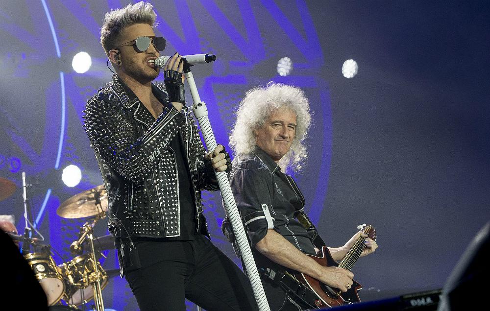 Adam Lambert with Brian May of Queen