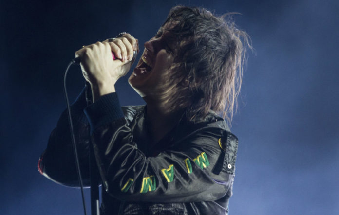 Julian Casablancas on stage with The Strokes at Lollapalooza Argentina 2017