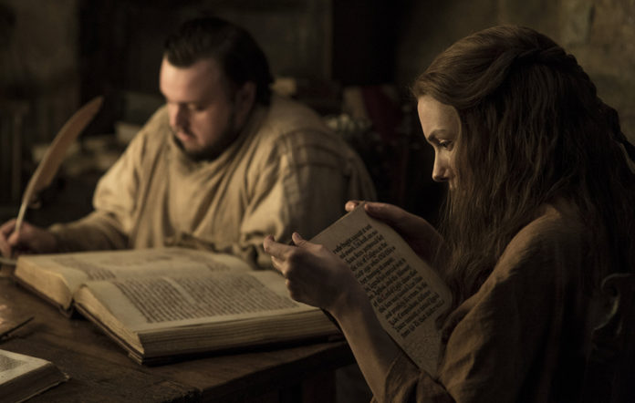 Sam and Gilly in Game of Thrones season 7