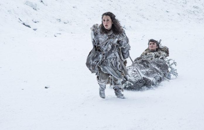 Meera and Bran in Game of Thrones season 7