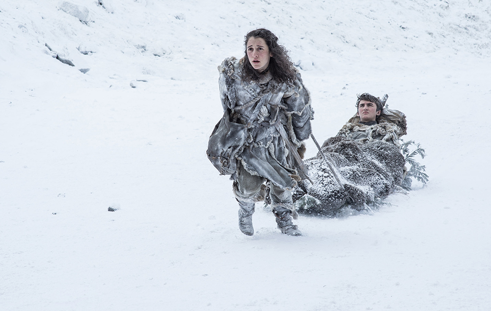 Meera and Bran in Game of Thrones season 7