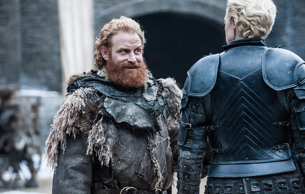 Brienne and Tormund in Game of Thrones season 7