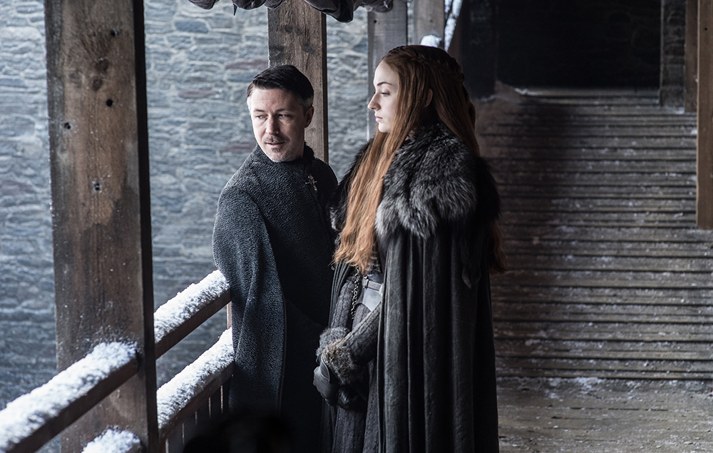 Sansa and Petyr Baelish in Game of Thrones season 7