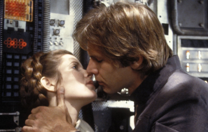 Carrie Fisher and Harrison Ford in 'Star Wars'